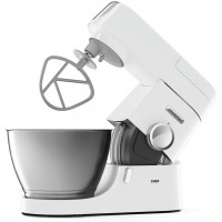 Kenwood Chef KVC3100 Stand Mixer - Stylish food mixer in white with K-beater, dough hook, whisk and 4.6L bowl, 1000W