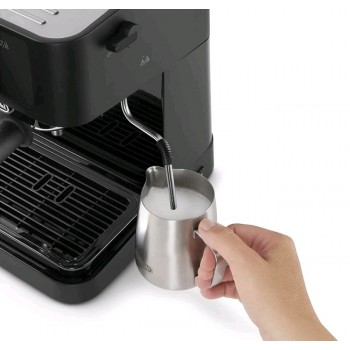 De'Longhi Stilosa EC230.BK, Traditional Barista Pump Espresso Machine, Espresso and Cappuccino, Black