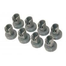 Zanussi Dishwasher Grey Upper Basket Wheels - Pack Of 8 Genuine part number 50286967000